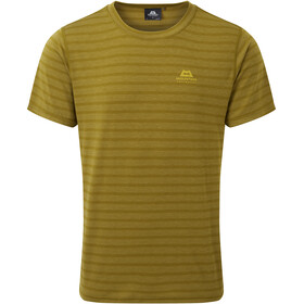 Mountain Equipment Groundup Camiseta Hombre, fir green stripe